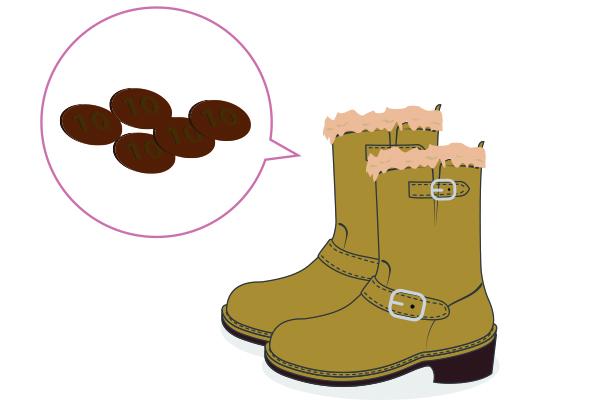 手軽な靴の消臭方法