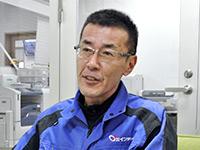 専務取締役の福井英二さん。